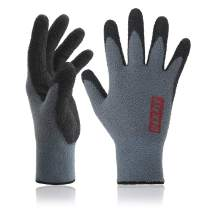 DEX FIT Warm Fleece Work Gloves NR450, Comfort Spandex Stretch Fit, Power Grip, Thin & Lightweight, Durable Nitrile Coated, Machine Washable, Grey Medium 3 Pairs Pack