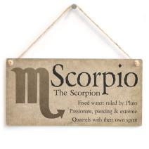 """Meijiafei Scorpio The Scorpion - Beautiful Spiritual Gift Astrology Sign of The Zodiac Plaque 10"""" X 5"""""""