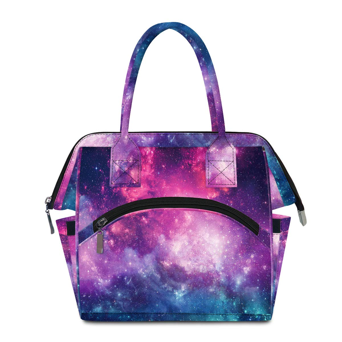 Galaxy Lunch Bag for Womens Lunch Box Water-Resistant Insulated Lunch Container for Work/School/Office/BBQ