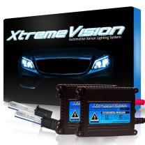 Xtremevision 35W DC Xenon Bundle with Slim Ballast (1 Pair) and H1 10000K - 10K Dark Blue Xenon Bulbs (1 Pair)