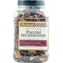 Roland Foods Premium Dried Extra Fancy Porcini Mushrooms, Specialty Imported Food, 1-Pound Jug
