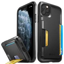 Vena iPhone 11 Pro Max Card Case, vSkin Slim Wallet Case with Credit Card Holder Slot, Designed for iPhone 11 Pro Max (6.5 inches) - Black