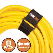 Extension Cord Wrap Organizer, 8 Pack of Elastic Storage Straps - 12 Inch Stretchy Cinch Straps for Power Cables, Hoses, Ropes, and More