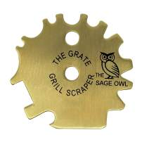 Safe Brass Grill Scraper Tool - Avoid A Common Outdoor Grilling Hazard with This BarBQue Tool - The Grate Grill Scraper