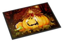 Caroline's Treasures PJC1070JMAT Somebody to Love Pumpkin Halloween Indoor or Outdoor Mat 24x36, 24H X 36W, Multicolor