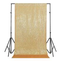 GFCC 4ftx8ft Gold Sequin Backdrop Curtain
