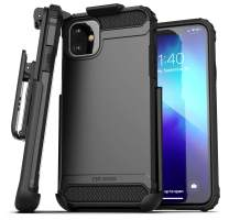 Encased iPhone 11 Belt Clip Holster Case (2019 Scorpio Armor) Heavy Duty Rugged Protective Cover with Holder (Black)