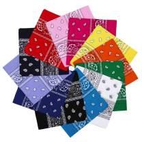 "Bandanas for Men & Women Cotton Hair Wrap Novelty Print Paisley Cowboy Style Headband 21x21"""