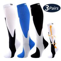 Compression Socks for Women and Men 20-30 mmHg for Running, Pregnancy, Travel, Nursing