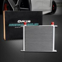30 Row AN10-10AN Universal Aluminum Engine Transmission Oil Cooler Color Silver