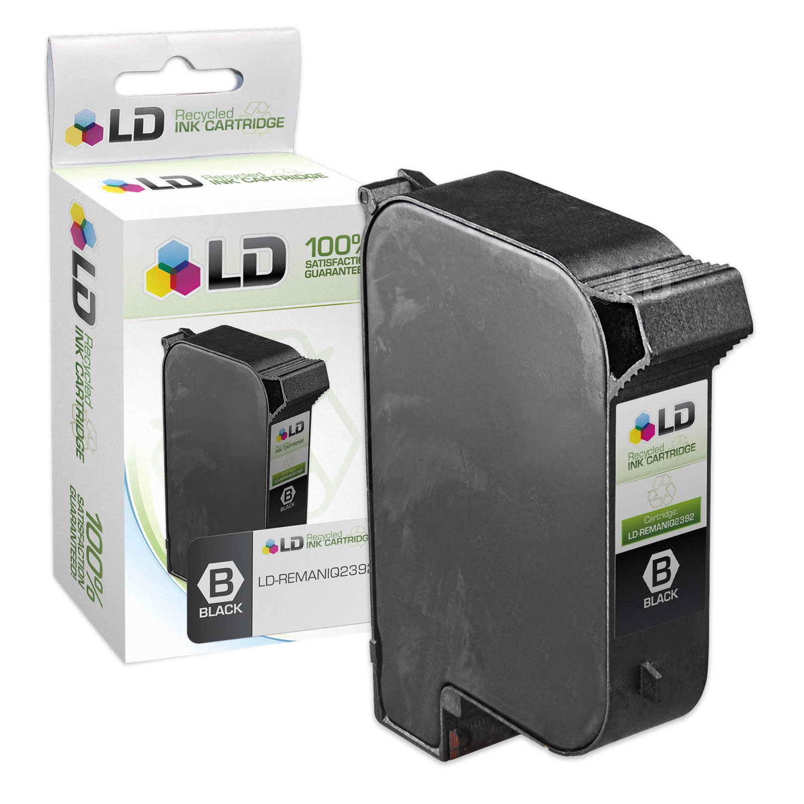 LD Remanufactured Ink Cartridge Replacement for HP IQ2392A (Aqueous Black)