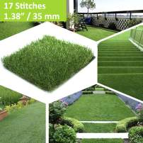 """XuSha Artificial Turf Grass Mat Synthetic Realistic Indoor/Outdoor Turf Pet Grass Artificial Turf for Dogs Pee Pads Garden Lawn Landscape (1.38""""/35mm 17 Stitches(Sample Piece))"""