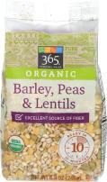 365 Everyday Value, Organic Barley, Peas & Lentils, 8.8 oz