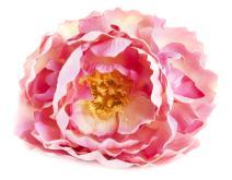 """SARO LIFESTYLE Peony Napkin Rings (4 Pack), Pink, 3""""x5"""","""