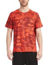 Men's-Athletic Dry-Fit Shirts Running - Moisture Wicking Short Sleeve