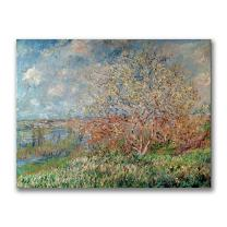 Spring, 1880 by Claude Monet, 35x47-Inch Canvas Wall Art