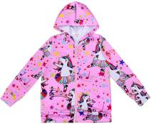 JESKIDS Girls UnicornSweatshirts with Hoodies Zip Up Pockets Pullover Tops