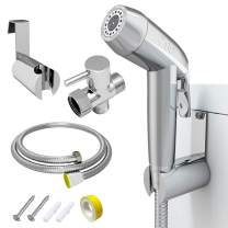 """Handheld Bidet Sprayer for Toilet,ZGO Baby Cloth Diaper Sprayer,Adjustable Pressure Bathroom Sprayer with Stainless Steel Hose,Support Wall or Toilet Mount(Only Compatible with 7/8"""" Toilet)"""
