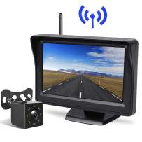 """Peizeen Wireless Backup Camera with 4.3"""" LCD Screen HD Rear View Camera Kit Waterproof Reverse Cam Parking Lines for Cars, Minivans, SUV, Minibus(MN04)"""