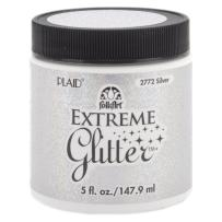 FolkArt Extreme Glitter Acrylic Paint in Assorted Colors (5-Ounce), 2772 Silver