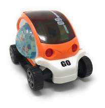 KIDSTHRILL Bump and Go Action 3D Rotating Car | Flashing Lights & Music | Spinning Ball | for Kids & Babies Education Toys