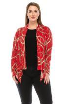 Jostar Women's Glitter Mid Cut Jacket Long Sleeve Glitter Plus