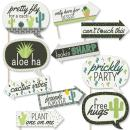Big Dot of Happiness Funny Prickly Cactus Party - Fiesta Party Photo Booth Props Kit - 10 Piece
