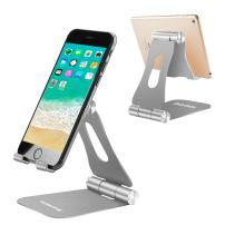 Cell Phone Stands Portable, YOSHINE Adjustable Tablet Stands: Desktop Aluminum Stand Holder Dock Compatible for iPad 2018 Pro 9.7, 10.5, Air Mini 4 3 2, Nexus, Tab, Phone, E-Reader (4-13'') - Grey