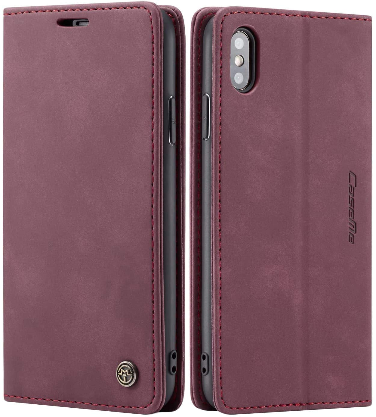 SINIANL Case for iPhone XS Max/XR/XS/X/8/8 Plus/7/7 Plus/6/6 Plus Leather Case Folio Flip Cover with Credit Card Holder