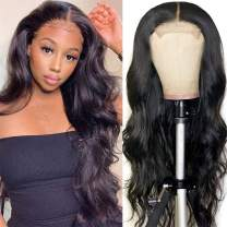 ANNELBEL Body Wave Lace Front Wigs Human Hair 4x4 Lace Front Wig 150 Density Human Hair Wig 100% 10A Brazilian Virgin Human Hair Wig Lace Closure Wigs For Black Women (Natural Color, 28 inches)