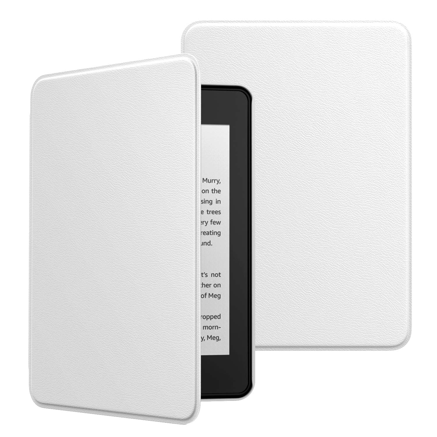 MoKo Case Fits Kindle Paperwhite (10th Generation, 2018 Releases), Premium Ultra Lightweight Shell Cover with Auto Wake/Sleep for Amazon Kindle Paperwhite 2018 E-Reader - White