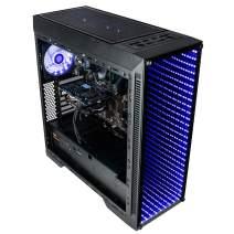 CUK Continuum Gamer PC (AMD Ryzen 5 2500X 4GHz, 16GB RAM, 500GB SSD, AMD Radeon RX 580 4GB, 600W Gold PSU, Windows 10 Home) Gaming Desktop Computer