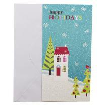 JAM PAPER Christmas Money Cards & Matching Envelopes Set - Happy Holidays Wonderland - 6/Pack