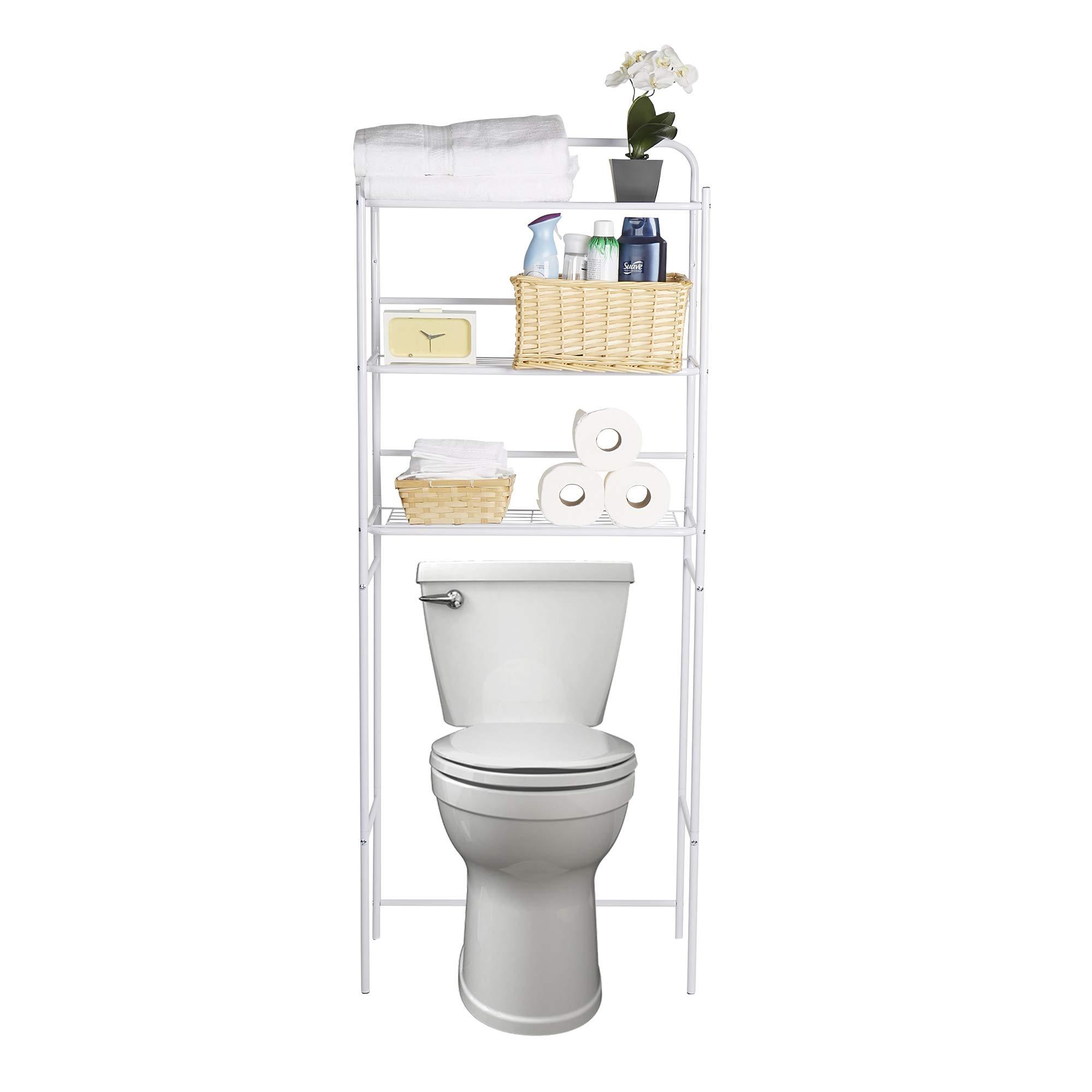 Mind Reader 3TOILR-WHT 3 Tier Organizer, Bathroom Space Saver, Over The Toilet Rack, White
