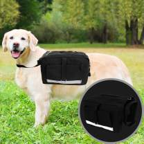 Dog Pack with Reflective Straps Hound Travel Camping Hiking Backpack Saddle Bag Rucksack for Small & Medium Dog