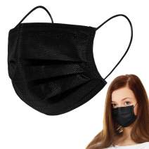 50 PCS Disposable Face M asks, 3 Layers Breathable Safety M asks with Elastic Earloops for Adult
