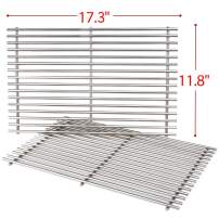 SHINESTAR Stainless Steel Grill Grates for Weber Spirit 300 Series, for Weber Genesis Silver B/C, 17.3 inch Cooking Grates 7639-2 Packs