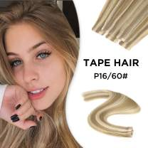Neitsi 20 inch Tape in Human Hair Skin Weft Glue in Extensions A9 Silky Straight 10pcs Color Cappucino & Cream Remy Human Hair Skin Weft Seamless Tape Hair