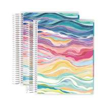 Erin Condren 12 - Month 2020-2021 Layers Colorful Coiled Daily Life Planner (July 2020 - June 2021) Layers Colorful Interior - Set of Two 6-Month Planners. 12 Months of Planning