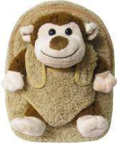 Kids Beige Backpack with Monkey Stuffie -Affordable Gift for Your Little One! Item #DKKI-8295C