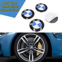 JYMAOYI for BMW Wheel Sticker, 4PCS Car Wheel Center Hub Cap Logo Aluminium 56.5mm/2.2inch for Most BMW …