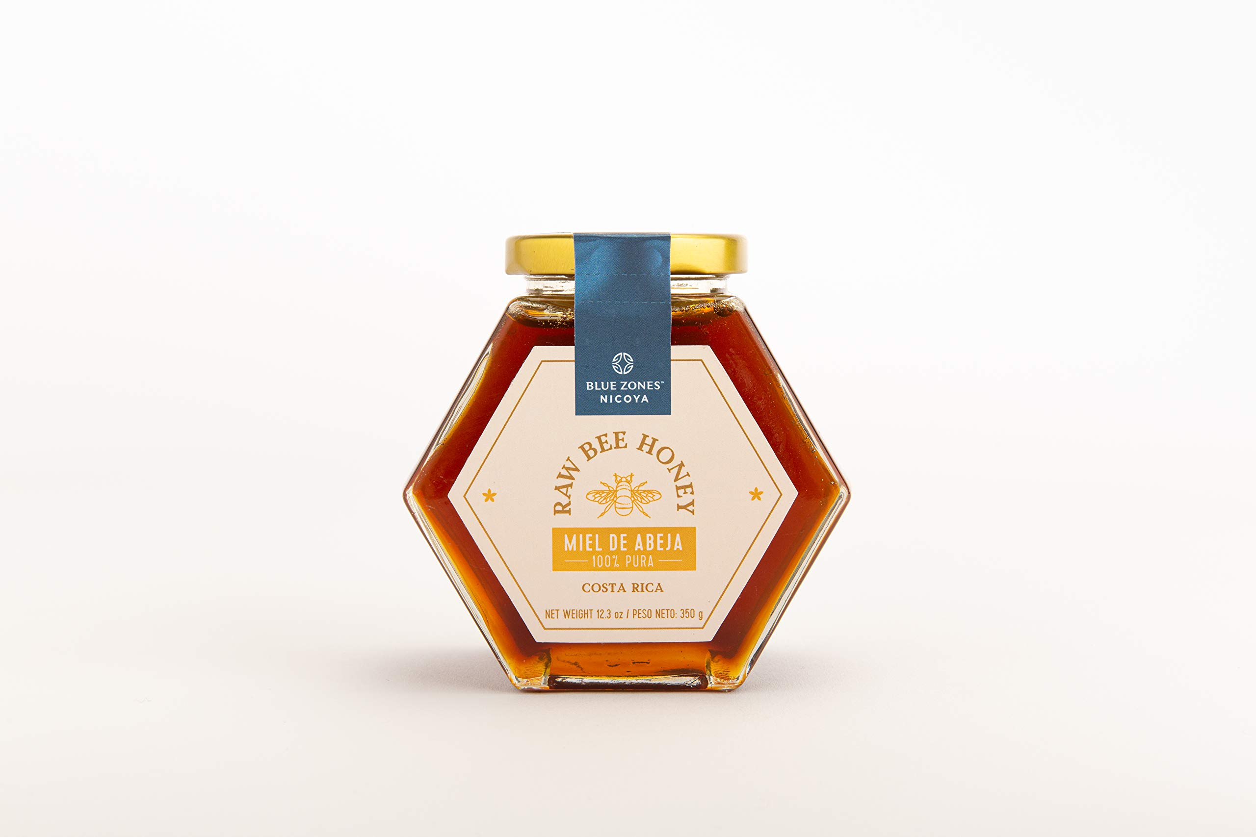 Blue Zones Nicoya Wild Bee Raw Honey | 12.3 Ounce (350g) | 100% Costa Rican | Multifloral, Tropical Dry Forest | 100% Raw Pure Honey
