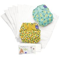 Bambino Mio, miosoft reusable cloth diaper set, rainforest b, size 1 (<21lbs)