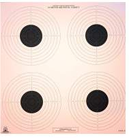 DOMAGRON 10 Meter (33 Ft.) Air Pistol 4 Bullseye Official NRA Target B-40/4 100 Pack on Tag