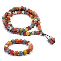 Cat Eye Jewels 108 Prayer Beads Bracelet Mala Beads Bracelet Necklace Bohemia with Infinite Knot