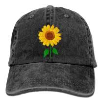 Waldeal Girl Printing Sunflower Vintage Distressed Dad Hats Cute Adjustable Kids Baseball Cap for 3-12 Years