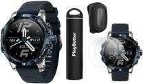 COROS VERTIX GPS Adventure Watch (Ice Breaker) Power Bundle | with COROS POD, HD Screen Protectors & PlayBetter Portable Charger | Sapphire Glass, Waterproof & 24/7 Oximeter