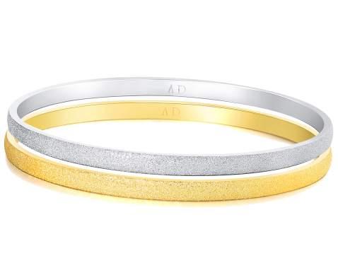 8 inches Ladies 14K Yellow Gold Diamond-Cut Slip-On Bangle Bracelet