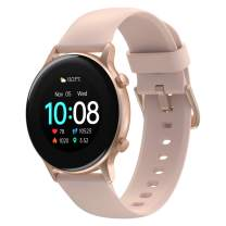 UMIDIGI Smart Watch Urun S, Activity Tracker for Women and Men, Fitness Tracker with Blood Oxygen Monitor and Heart Rate Monitor, 5ATM Waterproof Pedometer for iPhone and Android (Rose Gold)