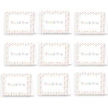 Premium Colorful Unique Thank You Cards with Envelopes - Small or Bulk - Great for Weddings, Events, Gifts, Business, Stationery, and More - Made in the U.S.A. (Polka Dots, 25 Pack)